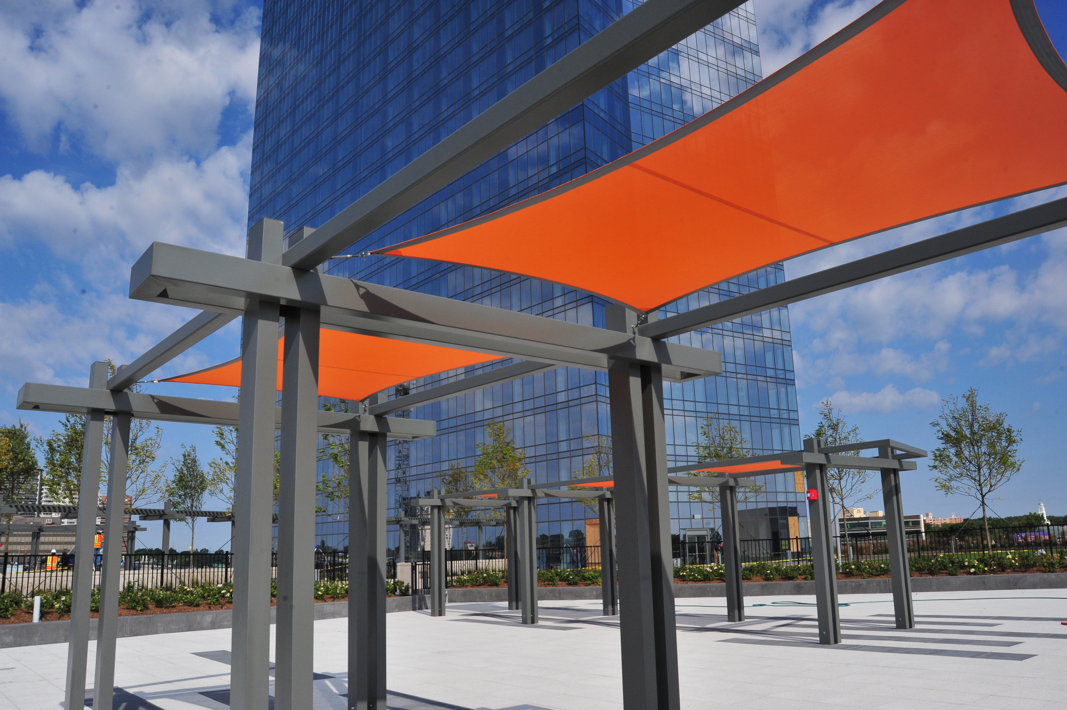 The Modern — Fort Lee NJ – Structural Pergola Systems